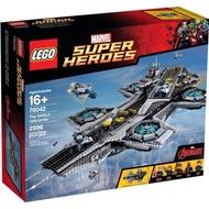 限面交 Lego 76042 復仇者聯盟 神盾局航空母艦(2手已組貼紙未貼附完整原盒)
