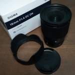 Sigma 16mm F1.4 DC DN Contemporary E Mount for Sony APSC