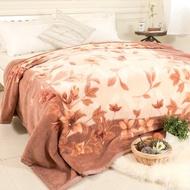 【米夢家居】鳴球100%澳洲美麗諾拉舍爾 純羊毛毯-山戀茶花