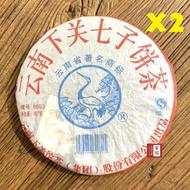 【茶韻】1+1超值組2006年下關茶廠8603青餅357g普洱茶葉禮盒(附茶樣10g.收藏盒.收藏袋.茶針x1)
