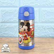 膳魔師米奇唐老鴨兒童水壺吸管保溫杯360ml保冷瓶附提袋-大廚師百貨