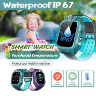 【สามารถวัดอุณหภูมิได้】นาฬิกาสมาร์ทเด็ก นาฬิกาอัจฉริยะ Smart watch for Kids นาฬิกาโทรศัพท์อัจฉริยะสำหรับเด็ก  รองรับภาษาไทย ติดตามตำแหน่ง โทรแชท กันน้ำFeatures to measure body temperature Call Anti-lost Smart Wristband D60