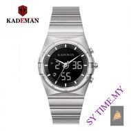 KADEMAN K9079 Quartz Watch High-End Fashion Sports Multi-Function Watch LCD Display Double Display Waterproof Men Watch