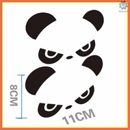 M&S 2pcs Reflective Hi Panda Rearview Mirror Car Body Styling Sticker Removable Waterproof