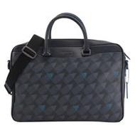 COACH 專櫃商品 2327 幾何圖形兩用公事包.藍/黑