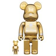 Medicom Be@rBrick BearBrick mastermind JAPAN GOLD 100% & 400%
