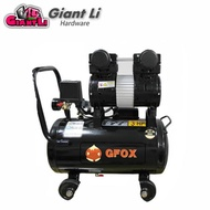 【GFOX】快速型無油式雙缸空壓機-3HP/25L/110V/60Hz/黑色款(加贈風管+噴槍)
