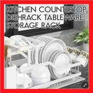 Kitchen Aluminium Countertop Dishrack Tableware Storage Rack