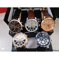 【全新正品】現貨   萬寶龍男士手錶 真三眼 日曆男款手錶 商務石英腕錶 皮帶手錶