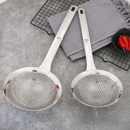 撈麵勺 加深304不銹鋼漏勺撈面漏勺加厚撈粉絲餃子勺家用油炸過濾網篩免運