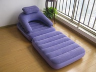 Sofa bed /       single inflatable sofa bed flocked inflatable recliner folding chair