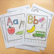 26pages/set From-A-to-Z Alphabet 26 Letters ABC Cognitive Worksheets Activities English Early Learning Kindergarten Preschool Eduacational Workbook Homework Baby Coloring Books for Kids Gifts