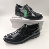 (9111-ผูกเชือก) V.minnte รองเท้าหนังคัชชูผู้ชาย แบบผูกเชือก สีดำ Size 47-50 รุ่น 9111 มีไซส์ใหญ่พิเศษ เท้ายาวถึง32.5ซม.