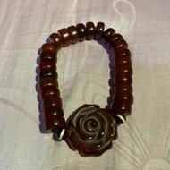 【悅康天珠】玫瑰紅玉髓 手環
