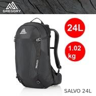 【速捷戶外】美國GREGORY 91596 SALVO 24L 男款專業網架式登山背包(黑) ,健行背包,運動通勤背包 ,登山背包