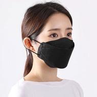 หน้ากากอนามัยเกาหลี kf94 หนา4ชั้น หน้ากาก 3D แมส KF94 มาตราฐานเกาหลี ทรงแบบไอดอลเกาหลีใส่ บรรจุ 10 ชิ้น (คละสีขาว-ดำ)