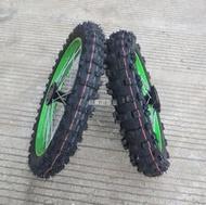 現貨熱賣越野摩托車高賽配件前70/100-17後90/100-14寸C碟輪轂鋼圈帶輪胎