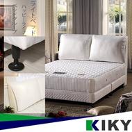 KIKY 完美情人 雙人床組 (舒軟靠枕 床頭片 + 布床底 ) 黑色 白色 紅色~ 下墊 床架 床板 單人床組
