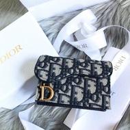 迪奧 Dior 馬鞍 老花 零錢包
