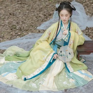 Women Dress Hanfu Suit Oriental Song Dynasty Cosplay Costume Traditional Chinese Clothing Dancewear