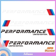 2pcs Car Stickers M Performance Limited Edition Side Door Reflective Decals