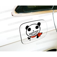 Car stickers Cartoon car stickers Thief smiles insignificant pandas Reflective car stickers Car fuel tank stickers