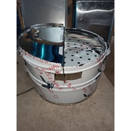 """Round Siomai/Siopao Steamer 16""""inches 2layer Quality Stainless"""