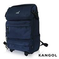 KANGOL 英式時尚 登山超強機能後背包 ( 深藍)可放置13吋筆電扣層後背包KG1106