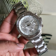 Fossil BQ2503 Bannon Stainless Steel Silver Watch  45MM