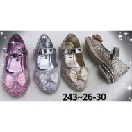 รองเท้าคัชชูเด็กผู้หญิง แต่งด้วยโบว์ น่ารักใส่สบาย มี 3 สีให้เลือก ไชส์26-36