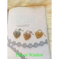 蒂凡尼Tiffany 心形18K白金鑲鉆吊墜項鏈