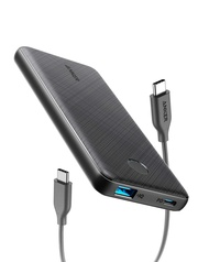[Upgraded] Anker PowerCore Slim 10000 PD, USB-C Portable Charger (18W), 10000mAh Power Delivery Power Bank for iPhone 11 / Pro / 8/ XS/XR, S10, Pixel 3, iPad Pro 2018, and More (Charger Not Include)