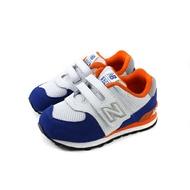 New Balance 574系列 運動鞋 跑鞋 魔鬼氈 白/藍 小童 童鞋 IV574NSD-W no576