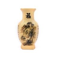 山水福壽-中華陶瓷花瓶高約37.5cm 620100001355 再生工場Y 01