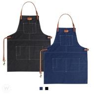 【現貨免運費】工業風圍裙 (實拍+用給你看) H型圍裙 皮革圍裙 工作圍裙 牛仔帆布 日式工業風