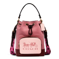 กระเป๋าสะพายข้าง COACH 1899 JES DRAWSTRING BUCKET BAG IN COLORBLOCK WITH HORSE AND CARRIAGE IMROL