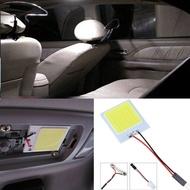 COB LED T10 4W 12V แผงตกแต่งภายในรถยนต์ไฟโคมไฟทรงโดมหลอดไฟ