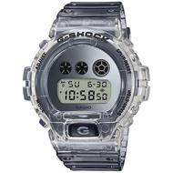 【CASIO 卡西歐】G-SHOCK 半透明復古風電子手錶(DW-6900SK-1)