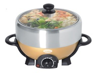 EuropAce ESB 3391S Deluxe Steamboat with Grill - 4L