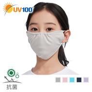 【UV100】 防曬 抗UV-透氣舒適寬版口罩-童(LC21338)