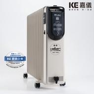 德國HELLER嘉儀 12片 電子式智慧恆溫葉片式電暖器 KED512T