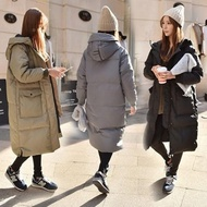 【AS 梨卡】情侶可穿[韓國空運]超長版鋪棉連帽仿羽絨外套大衣A135