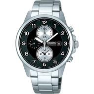 SEIKO SPIRIT 三眼計時腕錶-黑/41mm 7T92-0LF0D(SBTQ089J)