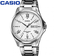 Casio นาฬิกาข้อมือผู้ชาย เลขโรมัน กันน้ำ 100M สายสแตนเลส รุ่น MTP-1384