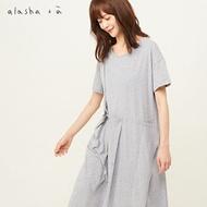 a la sha+a單肩吊帶創意活摺洋裝