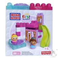 費雪 MEGA BLOKS 美高滑梯高樓積木遊戲組-糖果屋(22片) | 加油站(21片)