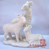陶瓷工藝品 純白 三羊開泰 禮品 吉祥裝飾擺件 家居裝飾品