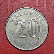 koin asing 20 sen Malaysia 1973 TP 3383