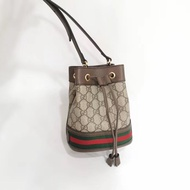 【Go時尚】Gucci Ophidia mini GG Bucket 綠紅綠 老花 水桶包 550620