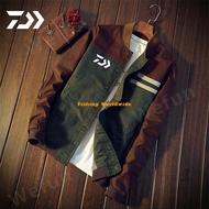 【Wefun】DAIWA釣魚外套戶外運動條紋透氣釣魚服大碼超薄DAWA釣魚衫